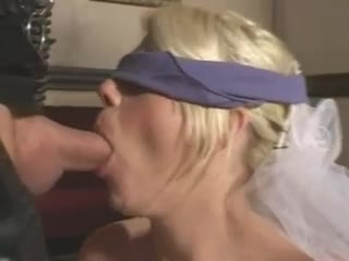 Rubber fetish sex with girl in wedding dress