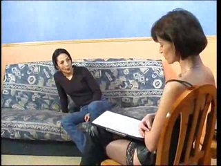 Casting session with babe in sexy boots