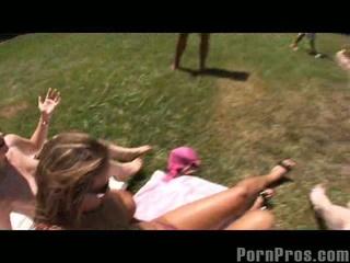 Trina michaels and her friend acquire cumshot surprise