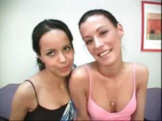 Juvenile brunette babes Zeina Heart and sweet Amy Lee love engulfing cock