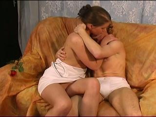Gorgeous european pair have passionate blowjob