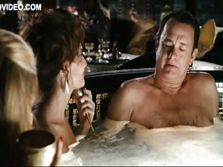 Tom Hanks In the Jacuzzi with Naked Cyia Batten & Hilary Angelo