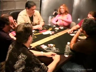 Sexy Blond Babe Loses Bet and Masturbates - Celebrity Porno Poker