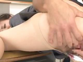 Japanese teacher craves his hot boner