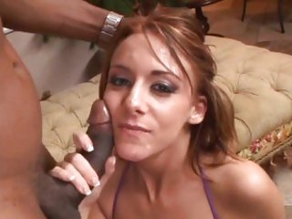 Captivating Sierra Sin gets her face splattered with cum