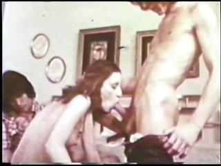 Hot Retro Porn Trio with Creampie Ending