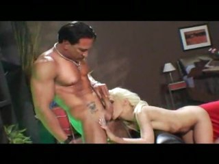 He likes it hard with the blonde anal slut