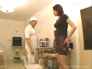 Horny Doctor Fucks Breasty Brunette Babe And Gives Her A Sticky Facial