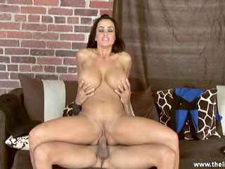 Arousing Lisa Ann rides this dick up her wet wet crack