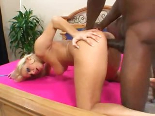 Large fucking black cock for her hawt box