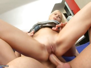 Super bitch Lisa slams her tight ass on a hard cock and enjoys it
