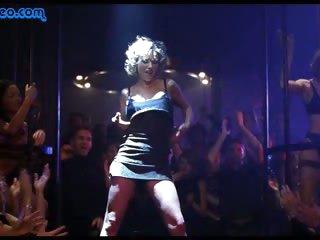 Perfect Blonde Babe Sarah Crawford Strips To Her Sexy Panties