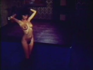 Vintage Brunette Babe Sucks Cock and Gets Her Hairy Pussy Drilled On Stage
