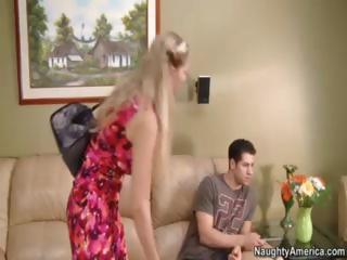 Julia Ann Fucks One Of her Sons Superlatively good Allies