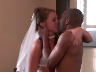 Slutty Bride Has Hardcore Sex With A Big Black Cock