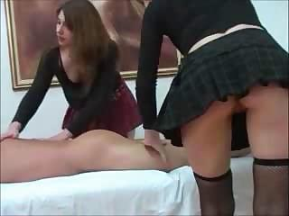 2 Hot Young Babes Give Attention To Dick