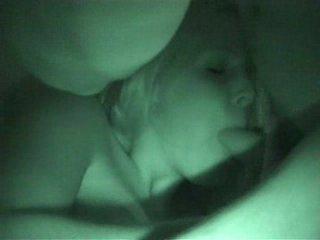 Oral stimulation caught on nightvision livecam