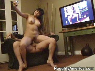 Exotic playgirl Mika Tan pounds her pussy on to a lengthy thick cock