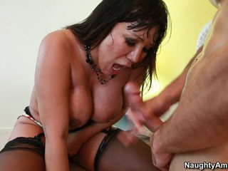 Voluptuous Ava Devine gets splattered with hot cum