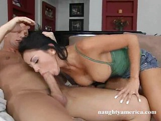 Audrey Bitoni a smoking hawt playgirl acquires a dick in her warm throat