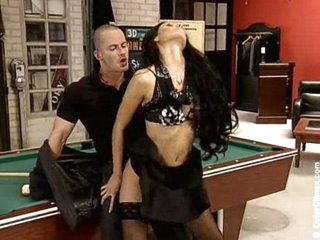 Billards bitch acquires fucked and pees