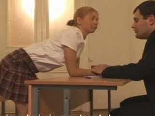 A naughty schoolgirl receives punished and fucked