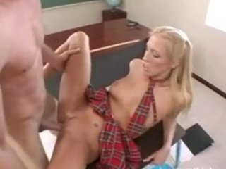 Tall Blonde Teen Gets Her Pussy Rammed Hard