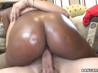 Black Monique Symone with sexy ass loves it white