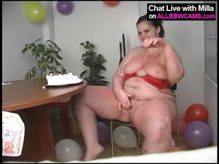 BBW model birthday cake fun