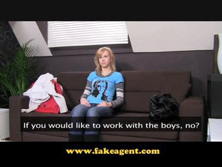 FakeAgent 19 yr old gets first time Creampie