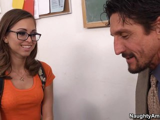 Spectacled Student Riley Reid really loves her trainer