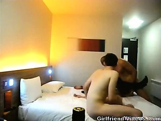 2 Guys Fuck Girl At Hotel