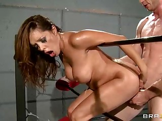 Francesca Le and Jordan Ash are in the ring fucking hard and rough. She's the first to dominate. And then he fucks the shit out of busty smoking hot sporty brunette Francesca Le.