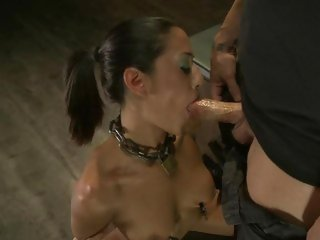 Layla Storm takes a hard dick down her throat
