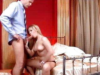 Vivacious Bibi Noel rams a hard dick down her throat