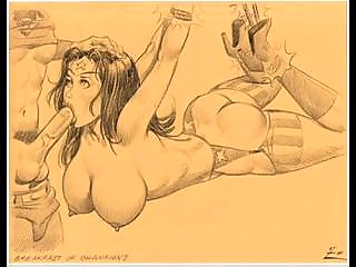 Huge breast women sucking comics