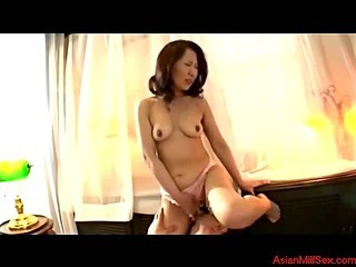 Milf Giving Blowjob For Young Guy Cum To Mouth Getting Her Tits Rubbed In The Bathroom