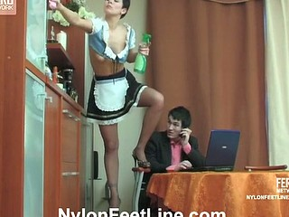 Mima&Vitas nylon footfuck action