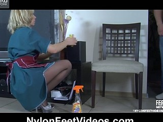 Connie&Nicholas awesome nylon footsex
