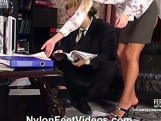 Diana&Lesley phat nylon feet action