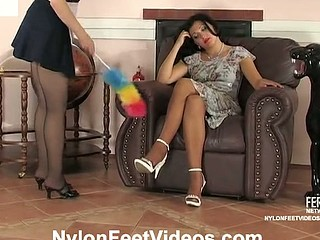Ira&Laura mindblowing nylon feet movie