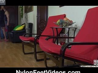 Margo&Nicholas nasty nylon feet movie