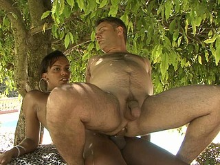 Camila&Ricardo tgirl copulates dude action