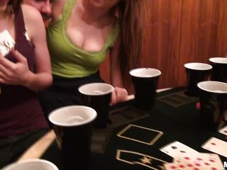 sluty teens are having fun after playing poker