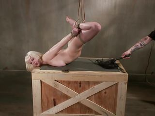 blonde cutie hanged and punished