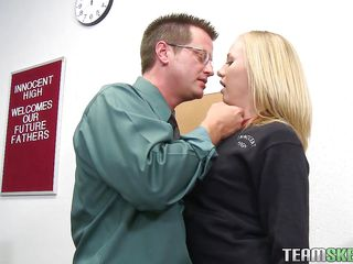 naughty student asking for some favor from her teacher