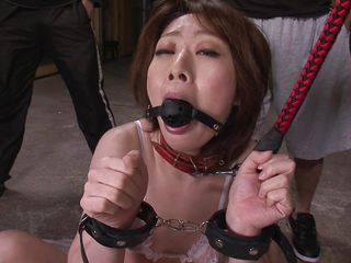 japanese milf on leash made to suck dick