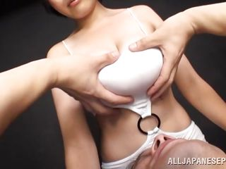 busty asian beauty offers her boobs