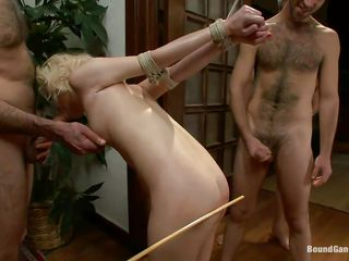 blonde tied and banged by big dicks