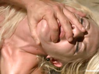 smoking hot blonde babe dominated and fucked